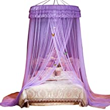 Zconmotarich Dome Mosquito Net House Bedding Decor Summer Sweet Style Round Bed Canopy White