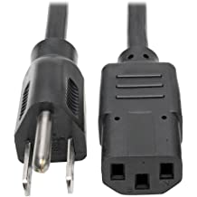 0.3M 5 Pack 1 Feet 14AWG Heavy Duty 3 Prong Monitor 15 Amp AC Power Cable CNE591476 Computer Power Cord 1ft 3 conductor IEC320 C13 to NEMA 5-15P Universal Power Cord 0.3 Meters