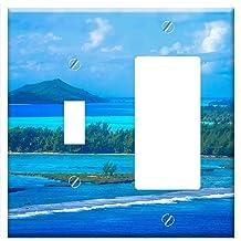 3dRose lsp/_84980/_1 Dock Walkway Bora Bora Tahiti French Polynesia Oc13 Bba0070 Bill Bachmann Single Toggle Switch