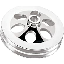 NEW BILLET SPECIALTIES POLISHED BBC CRANKSHAFT PULLEY FOR USE WITH LONG WATER PUMPS 6061-T6 ALUMINUM 3 V-BELT GROOVES BIG BLOCK CHEVY 6 7//16 MIRROR FINISH