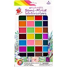 Blue 3.75 Width Plastic Whole Pan Pack of 12 Prang 50005 Non-Toxic Semi-Moist Watercolor Paint Refill 0.62 Height 6.5 Length