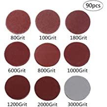 Soft Sponge Buffering Pad e-Rookie 5-Inch 400 Grit Aluminum Oxide White Dry Hook and Loop Sanding Discs with a 5//16-24 Inch Thread Backing Pad 20-Pack