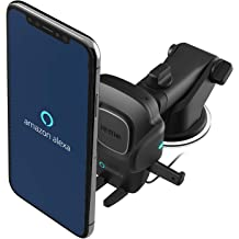 iKNOWTECH Wireless RoadTune Handsfree In-Car with USB Charger Holder Mount For iPhone SE//6//6S//7//Plus Samsung Galaxy S5 S6 S7 Edge Plus Sony LG HTC Phones FM Transmitter Car Kit