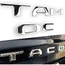Cootack 3D Raised Tailgate Insert Letters Emblem for Toyota Tacoma 2016-2019 Matte Black