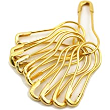 54mm Assorted Sizes Safety Pins for Home Office Use Art Craft Sewing Jewelry Making 3 Colors 19mm 575 Pieces Safety Pins