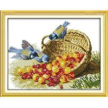 34cm/×34 or 13.26/×13.26 Joy Sunday Cross Stitch kits Autumn,11CT Stamped