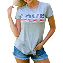 b27cbcbb7205d0 RAINED-4th of July Women's American Flag Camo Tank Tops Sleeveless