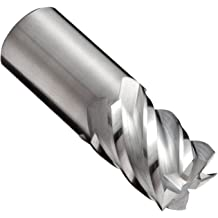 Roughing Cut 4.5 Overall Length Weldon Shank 1.25 Cutting Diameter Finish Non-Center Cutting 6 Flutes 1.25 Shank Diameter Uncoated Bright 30 Deg Helix YG-1 E2079 Cobalt Steel Square Nose End Mill