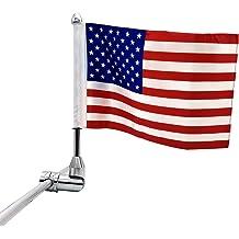 buyinhouse Folding Motorcycle Flag Pole Mount /& 6x9 US Flag for American Harley Davidson Yamaha Honda with 1//2 Bar