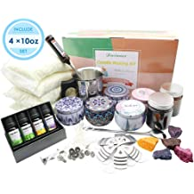 100pcs Candle Wick Stickers 2pcs Candle Wicks Holder and 2pcs 4oz Candle Tins 100pcs Natural Candle Wicks DGQ Candle Making Kit DIY Candles Craft Tools Sets 1pcs Candle Making Pot