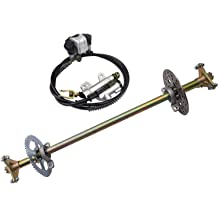 ZXTDR 2 Pack of 3 Stud 17T 78mm Rear Axle Wheel Hubs for Go Kart Racing Mini Bike