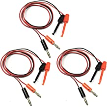 Test Cable 1M Long Alligator Clip to Banana Plug Test Cable Pair for Multimeter R TOOGOO