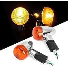shunyang Universal Flowing Waterproof Motorcycle Motorbike LED Turn Turning Signal Indicator Lights Amber Light Flicker Bulbs 2pcs