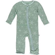 KicKee Pants Holiday Long Sleeve Applique Pajama Set Little Girls Desert Rose Proud Sister Girls 5