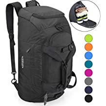 0bc62bd51 G4Free 3-Way Travel Duffel Backpack Luggage Gym Sports Bag with Shoe  Compartment 40L