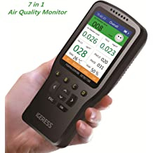 Sensor Test Indoor TVOC Volatile Organic Compound Gas Temperature /& Humidity Meter Air Quality Pollution Monitor Tester; Detect PM2.5 PM10 PM1.0 Micron Dust Elikliv Formaldehyde Detector