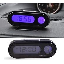 MASO Car RGB LCD Digital Multifunctional Clock 12V-24V Thermometer ...