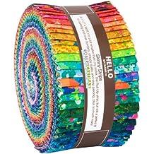 Jennifer Sampou Sky Roll Up 40 2.5-inch Strips Jelly Roll Robert Kaufman Fabrics RU-873-40
