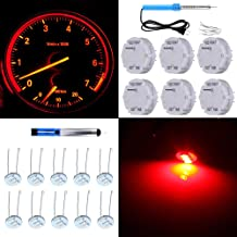 SCITOO 6Pcs X27.168 Stepper Motor with 10Pcs Blue 4.7mm Mini Light Bulbs Speedometer Instrument Gauge Cluster Repair Kit Fit for GM Toyota Honda Ford Chrysler Chevy Silverados Tahoes Yukons Suburbans