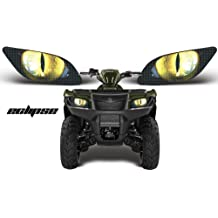 Eclipse Yellow AMR Racing ATV Headlight Eye Graphic Decal Cover for Polaris Trail Boss 330 10-13