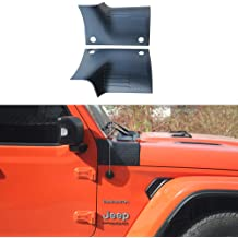 American Flag XBEEK Black Cowl Body Armor Outer Cowling Cover Corner Guards for 2018-2019 Jeep Wrangler JL and 2020 Gladiator JT Exterior Accessories Parts for JL