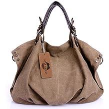 24c1b1db95 KISS GOLD(TM) European Style Canvas Large Tote Top Handle Bag Shopping Hobo  Shoulder