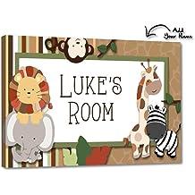 DOOR SIGN Pink and Aqua Flowers Girls Bedroom and Baby Nursery Kids Bedroom Wall Art DS0451