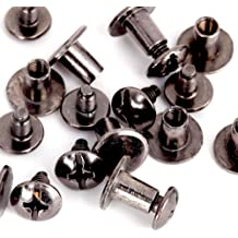 Bronze Pacifier Shape Pull Ring Rivets Studs Spikes with Screws for DIY Leather Craft Belt Bag Repairing Replacement Decoration Kit 8mm 20 Pcs Rivets Fasteners