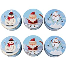 Celebrate the Home DAL743349 Holiday Fillable Cookie Tin Blue