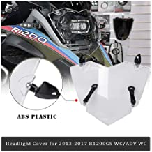 Keenso Motorcycle Front Headlight Protector Lens Head Lamp Cover Shield Guard for BMW R1200GS R1200GS ADVENTURE 14-17 Clear Headlight ABS Shield Guard Cover
