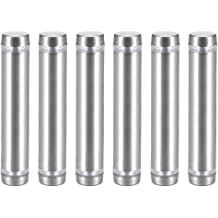 uxcell Glass Standoff Double Head Stainless Steel Standoff Holder 12mm X 54mm 8 Pcs