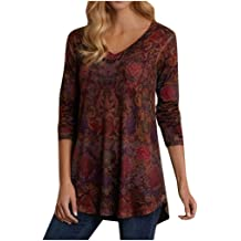 MMSunlight Womens Casual V Neck Tops Cold Shoulder Twist Knot Tunics Blouses Tshirts Loose Pullovers