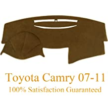 Y27 Yiz Dashboard Cover Dash Cover Mat Pad Custom Fit for Toyota Camry 2007 2008 2009 2010 2011 Brown
