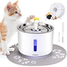 Water Fountain Jnwayb Cat Water Fountain Ultra-Silent Pump Automatic Pet Water Fountain Dog Water Dispenser with Multiple-Layer Filter Dog Cat Health Caring Fountain 2.5L B92