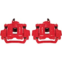 Power Stop S5002 Rear Red Powder Coated Performance Caliper Set