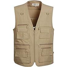 31c879e1221ee Gihuo Men's Summer Outdoor Work Safari Fishing Travel Vest with Pockets
