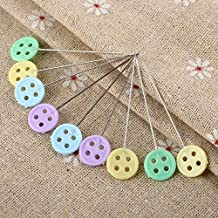 HEALIFTY 100pcs Flat Butterfly Head Pins Quilting Sewing Pins Straight Pins for DIY Sewing Crafts
