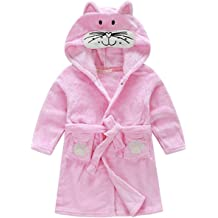 70d5a5674960e Kids Little Boys Girls Coral Fleece Bathrobe Unisex Kids Robe Pajamas  Sleepwear FBA