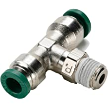 Push-to-Connect Round Body Connector 4 mm Tube to Pipe Parker 68LFR-4M-M5-pk5 Push-to-Connect Nickel Plated Instant Fitting Pack of 5 Nickel Plated Brass M5X0.8 mm