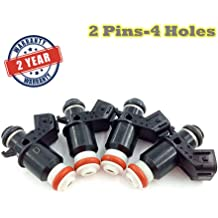 NewYall Pack of 4 410cc Fuel Injector w//Plug /& Play Adapters