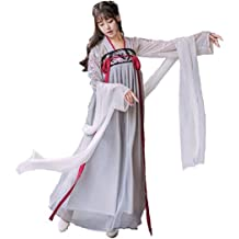 a3696a24e Peachi Women's Hanfu Halloween Cosplay Embroidered Chinese Costume