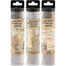 Tim Holtz Idea-ology Collage Paper Rolls Bundle of Three Rolls
