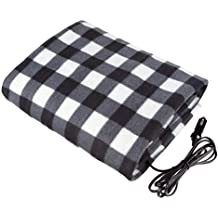 Heated 12 Volt Fleece Travel Throw for Car and RV-Great for Cold Weather Esonbuy Electric Car Blanket Tailgating and Emergency Kits (110150CM)