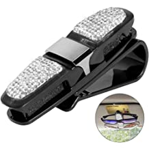 Driver Side /& Passenger Side Crystal Auto Console Side Pouchs for Cellphone Wallet Coin Key Credit Card Car Seat Console Pockets Organizer Caddy Catcher QINU Bling Bling Car Seat Gap Filler