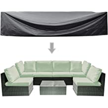 Garden Couch Protector Patio Sofa Cover Outdoor Waterproof Sectional Furniture Cover YOTHG V-Shaped Sectional Sofa Cover 215x215x87cm