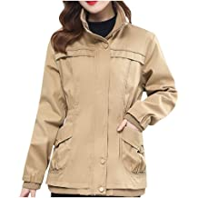 aihihe Womens Jackets Coats Plus Size Military Army Jacket Mi Long Hooded Jacket Parka Outdoor Midweight Trench Coats