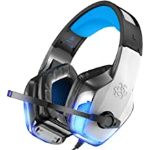 518105a7814 BENGOO V-4 Gaming Headset for Xbox One, PS4, PC, Controller, Noise  Cancelling Over Ear Headphones with Mic, LED Light Bass Surround Soft  Memory .