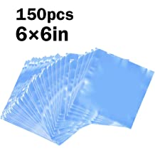 Healifty 300pcs Clear Shrink Wrap Bags PVC Transparent POF Heat Shrink Film Bags Cello Cellophane Bags for Soaps Bath Bombs DIY Crafts Gift Wrapping and Gift Basket