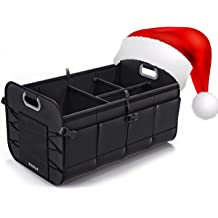 Truck and Many Vehicles MoKo Car Backseat Trunk Organizer Black Lips for SUV Heavy Duty Hanging Seat Back Organizer Cargo Storage Bag with 4 Spacious Large Pockets Adjustable Straps