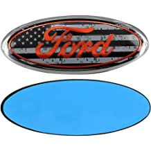 3D Oval 3M Double Side Adhesive Tape Sticker Badge for Ford Escape Excursion Expedition Freestyle F-150 F-250 F350 Poiuy Black for Front Emblem,For FORD 7 Inch Front Grille Tailgate Emblem